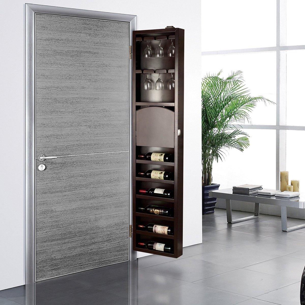 Wine Racks Kitchen Cabinets: Behind The Door Wine Storage Cabinet
