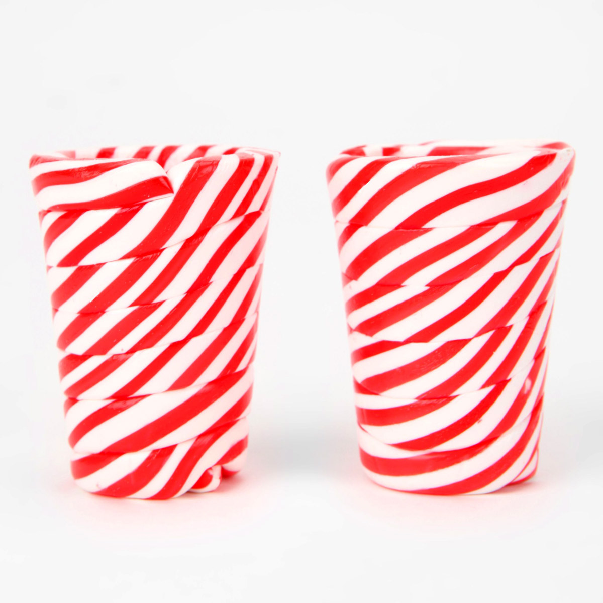 Candy cane shot glasses the green head
