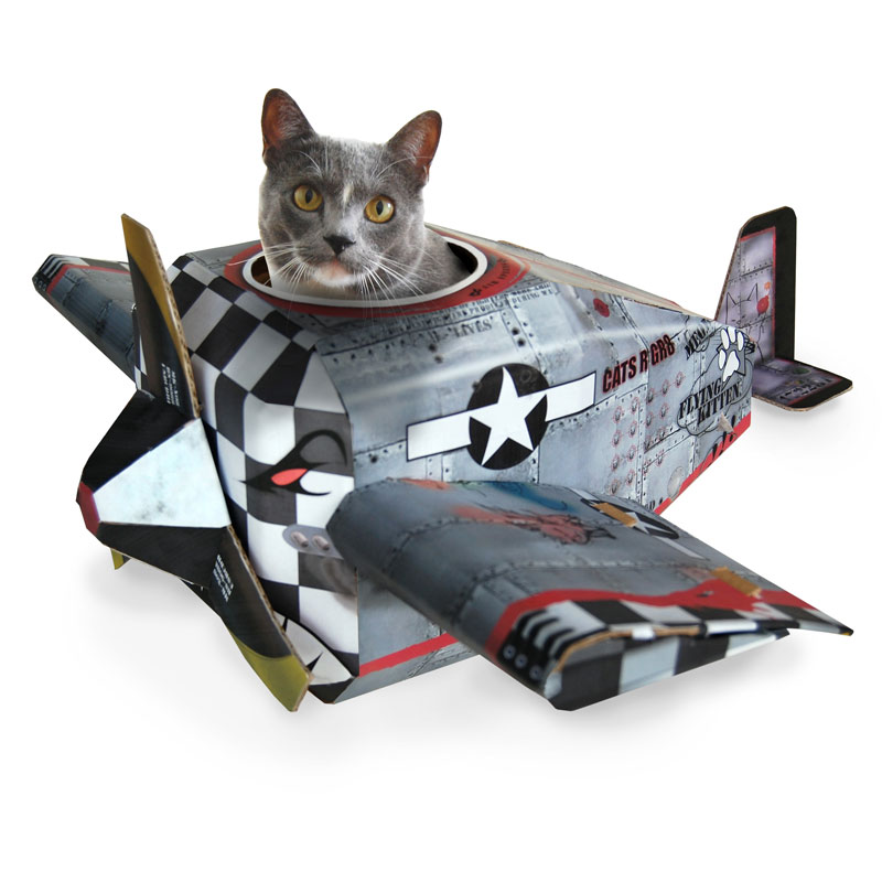 Cardboard Cat Playhouses Fire Engine Airplane And Tank