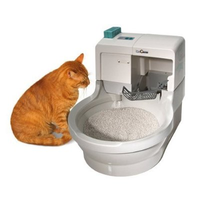 Cat genie automatic flushing litter box the green head - Cat litter boxes for small spaces design ...