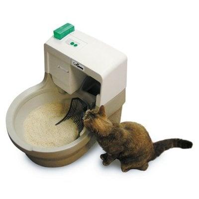 Cat Genie Automatic Flushing Litter Box The Green Head