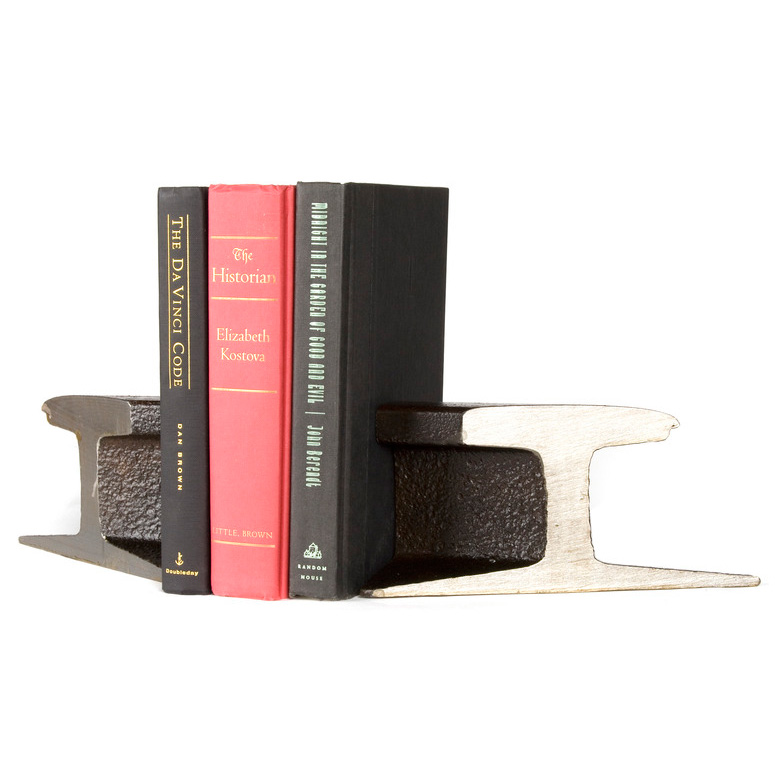 Century Old Steel Rail Bookends The Green Head