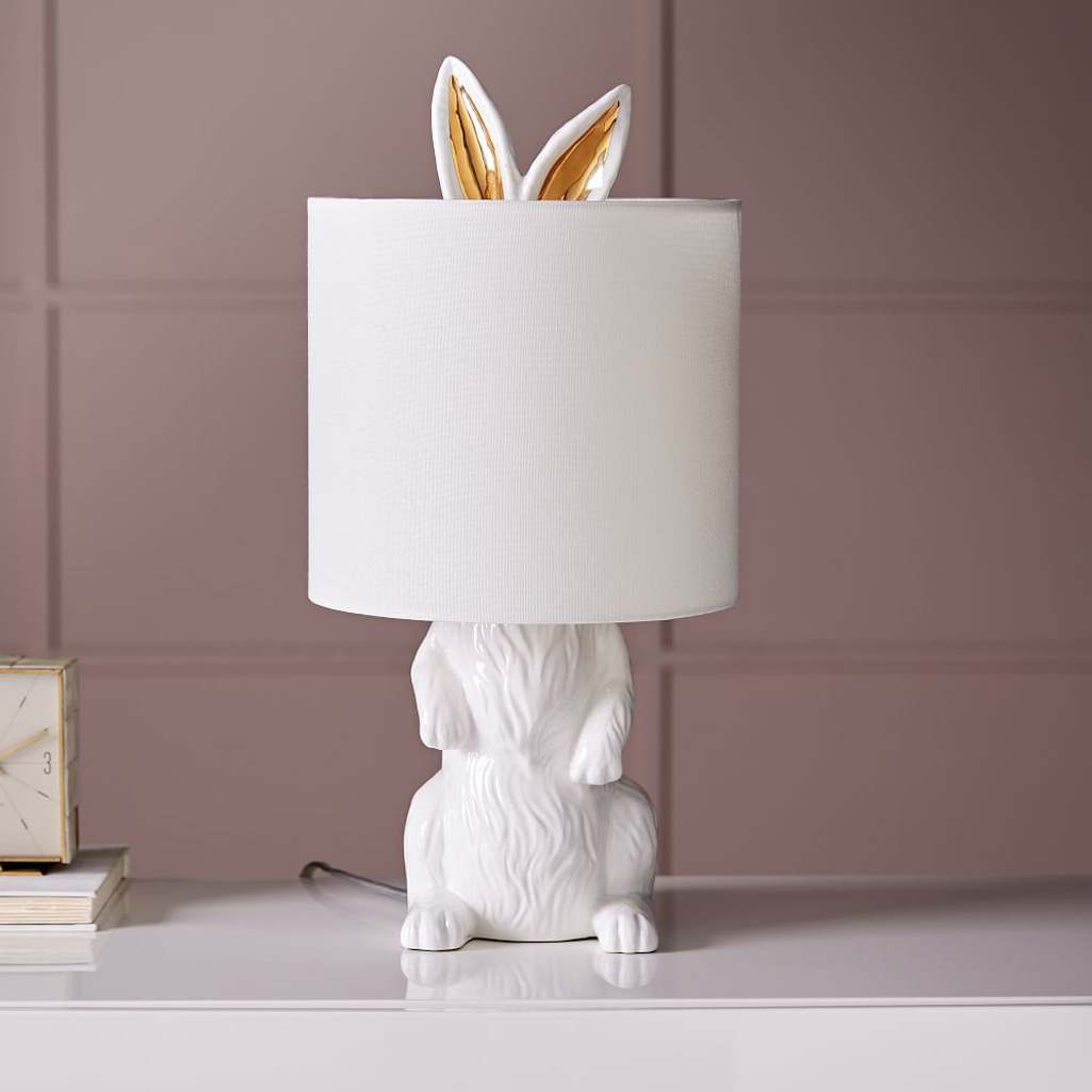 Ceramic Bunny Rabbit Table Lamp