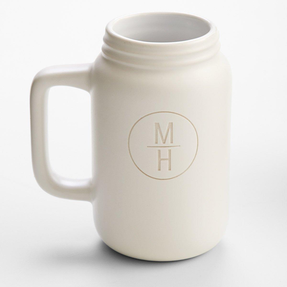Ceramic Mason Jar Mugs - The Green Head