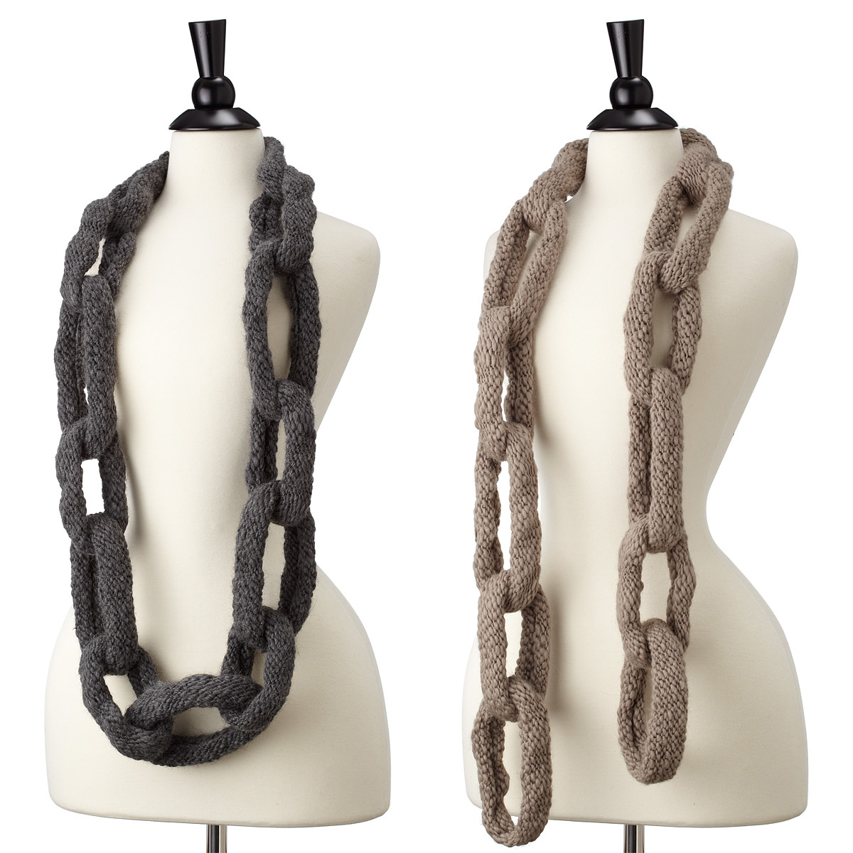 chain link scarf the green