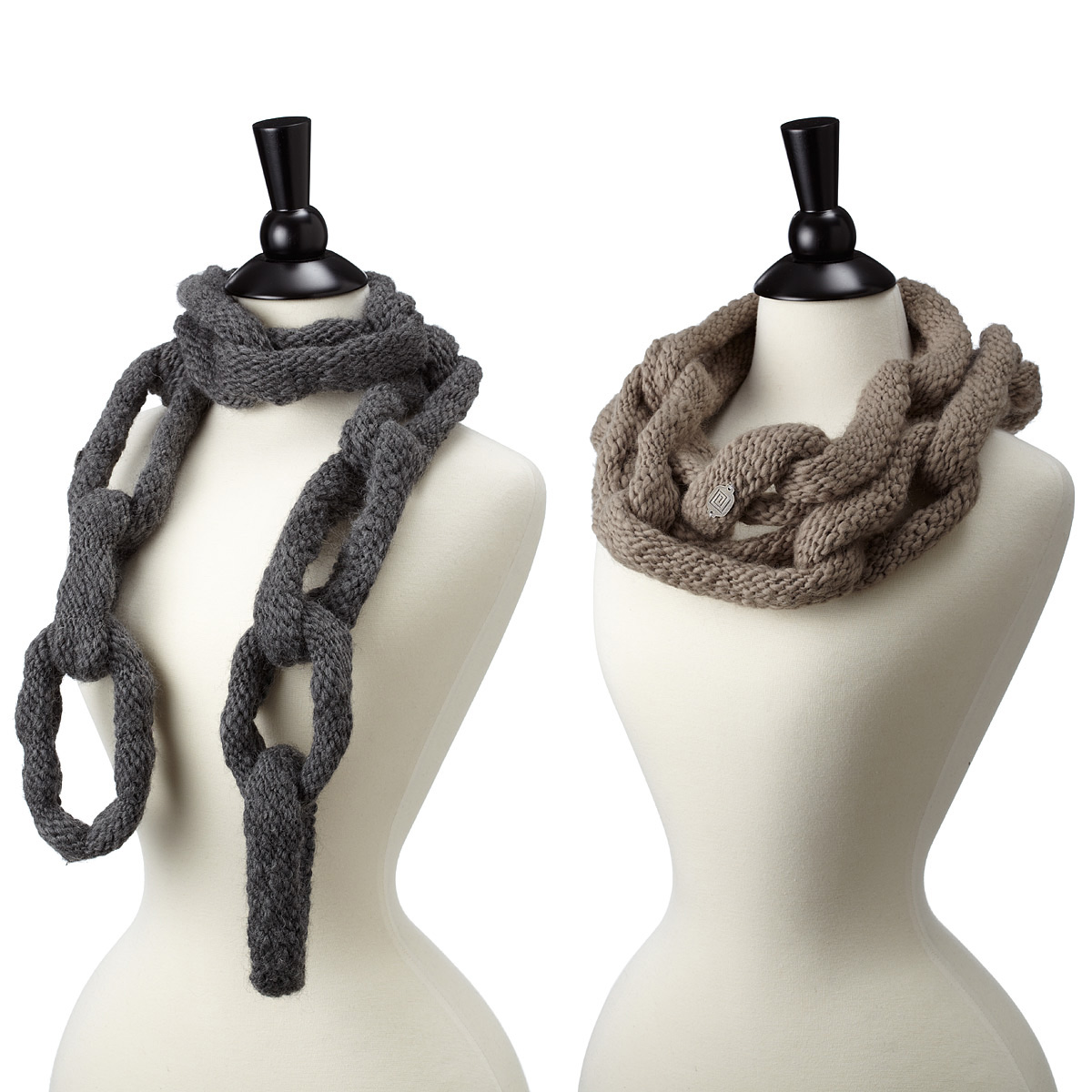Knitting Pattern For Chain Link Scarf : Chain Link Scarf - The Green Head
