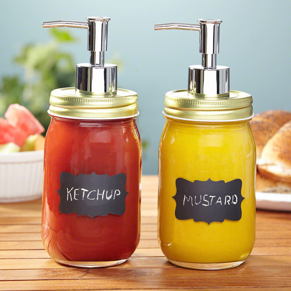 Chalk It Up Mason Jar Condiment Dispensers The Green Head