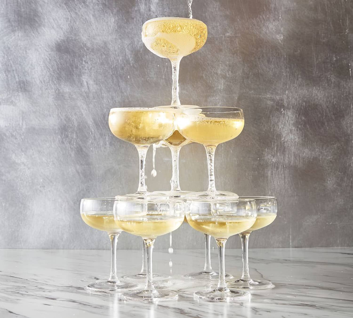 Champagne Tower Coupe Glasses