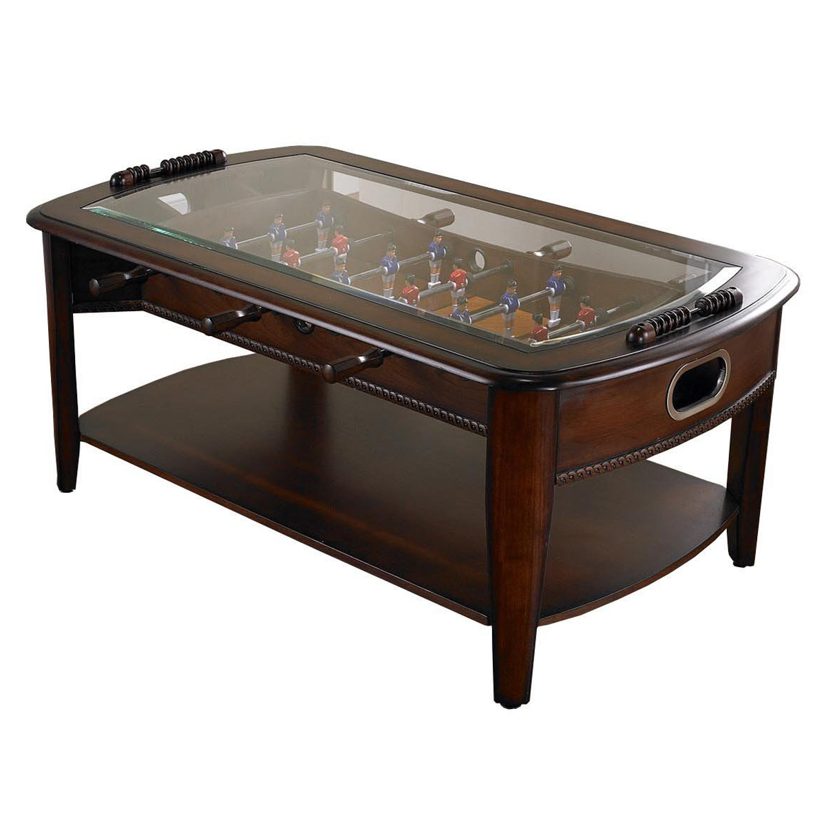 Chicago gaming signature foosball coffee table the green Espresso coffee table