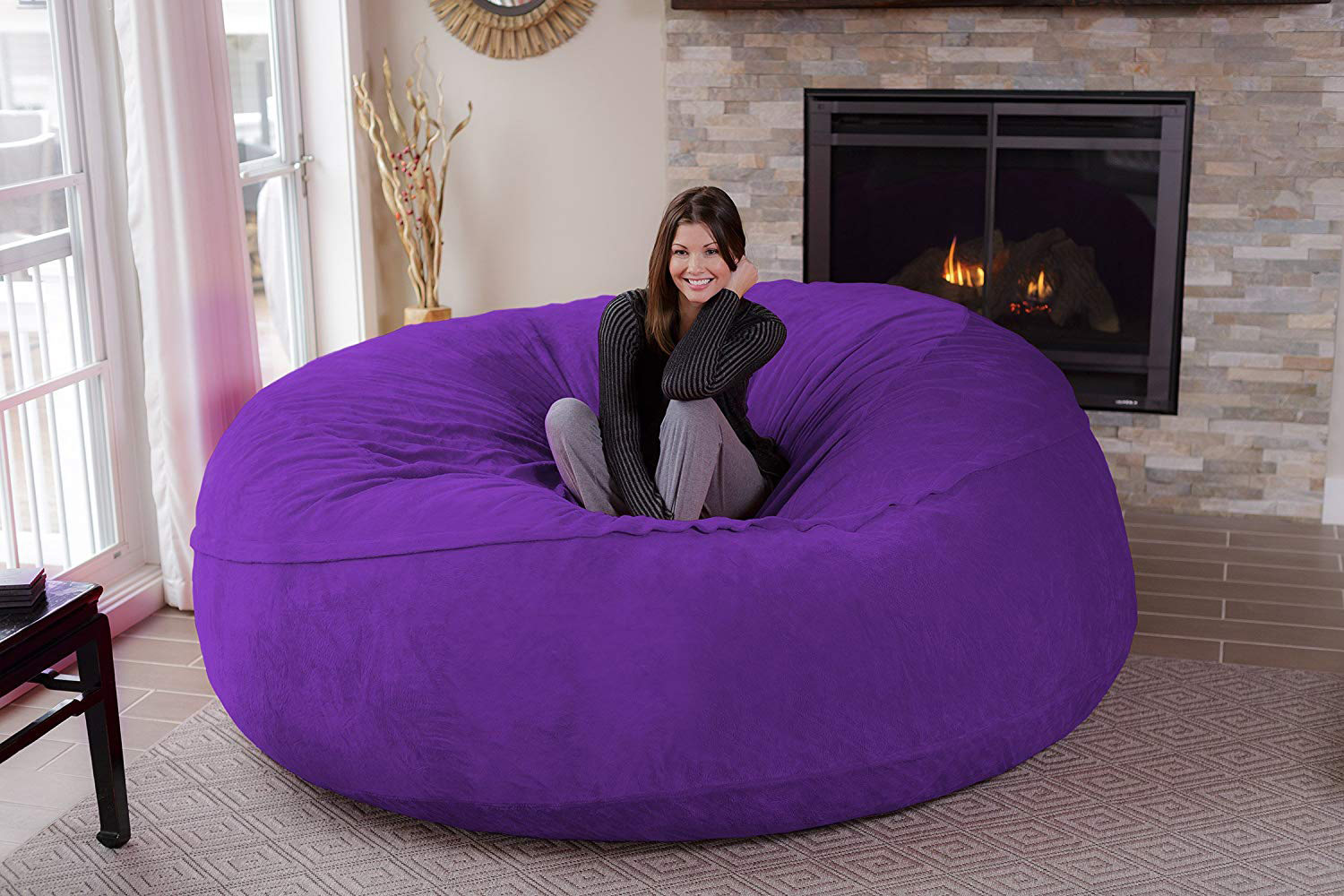 Chill Sack Massive 8 Foot Wide Bean Bag Chair