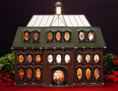 christmas advent house calendar. Black Bedroom Furniture Sets. Home Design Ideas