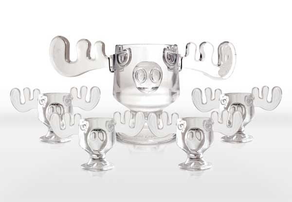 Christmas Vacation Moose Punch Bowl and Moose Mug Set   The Green Head q3cAVRzm