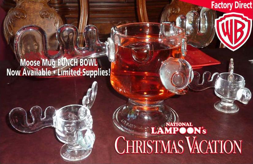Christmas Vacation Moose Punch Bowl and Moose Mug Set - The Green Head