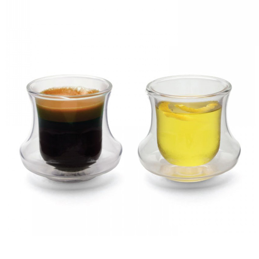 Espresso Coffee Cups ~ Ciclone double walled espresso cups shot glasses the