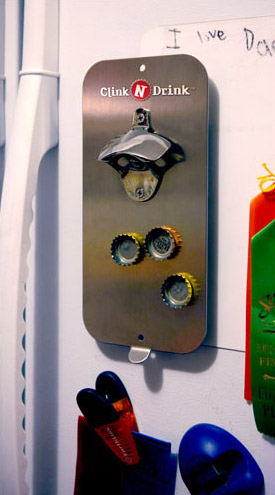 Clink N Drink Bottle Opener With Magnetic Cap Catcher