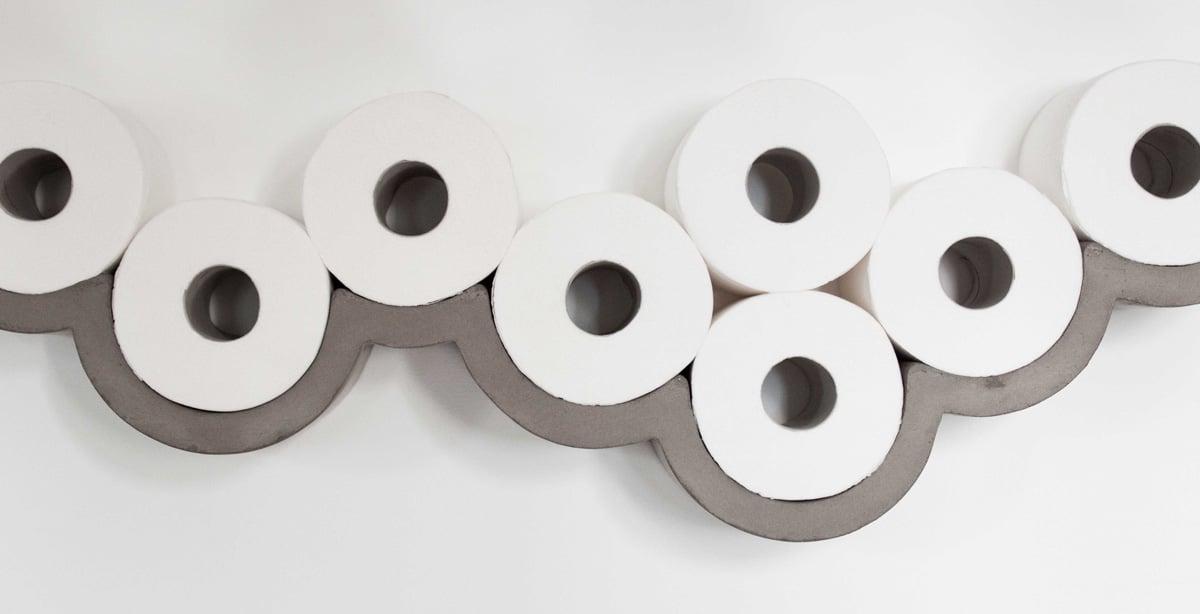 Wc Rollen Houder Muur.Cloudy Day Concrete Toilet Paper Storage