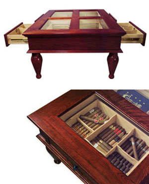 Coffee Table Cigar Humidor The Green Head