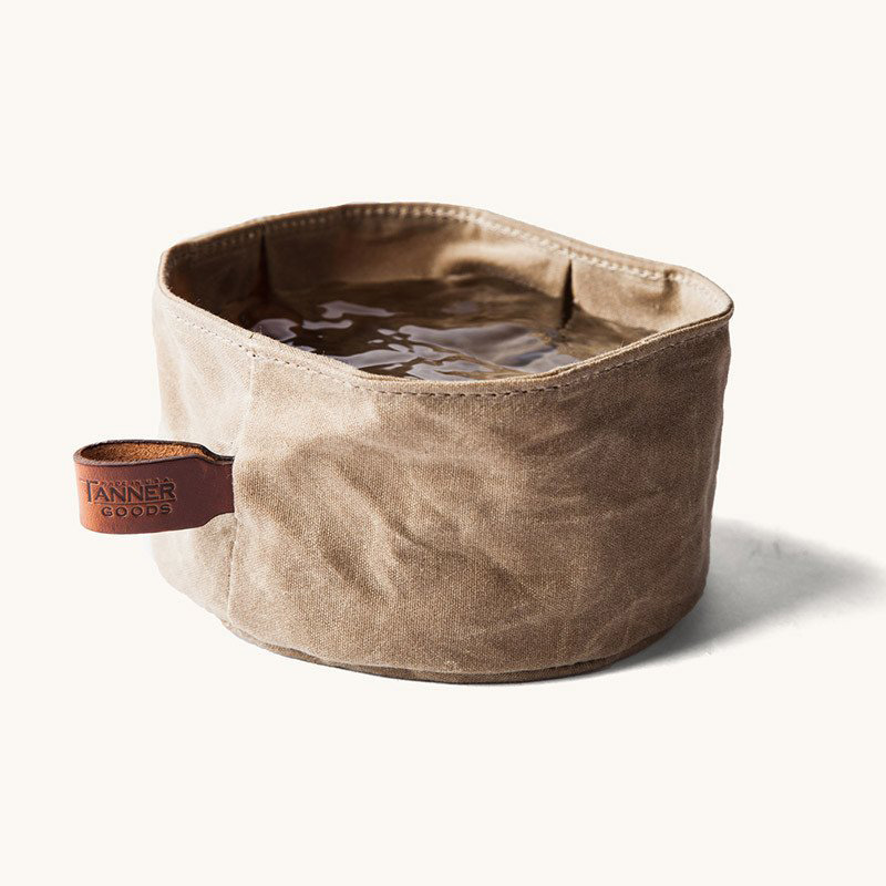 Portable Dog Water Bowl >> Collapsible Waxed Canvas Dog Bowl - The Green Head