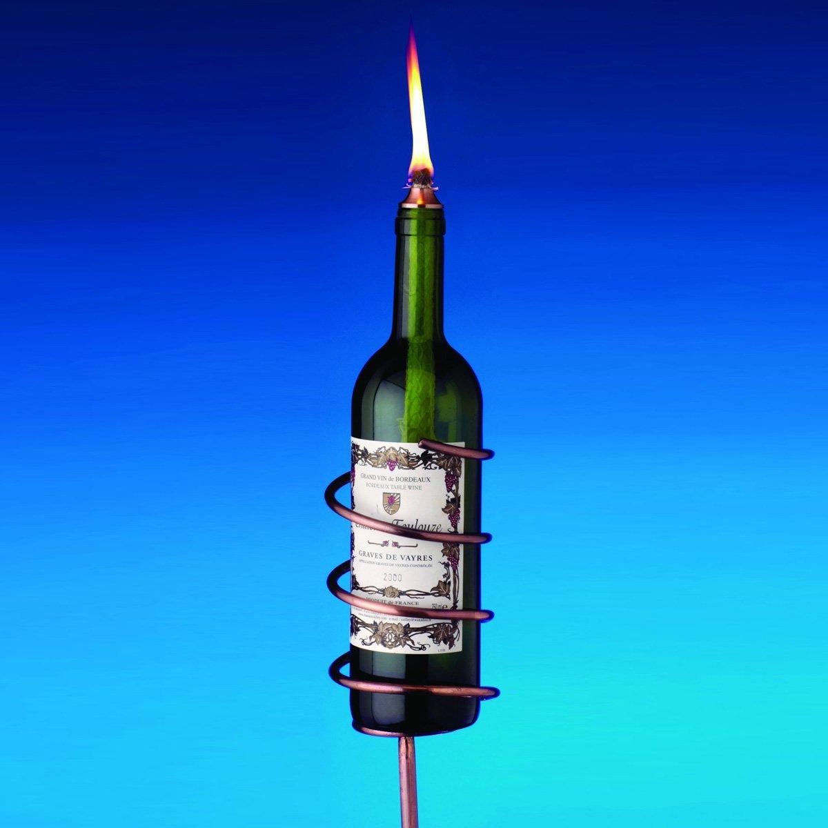 Copper Wine Bottle Tiki Torch Kit