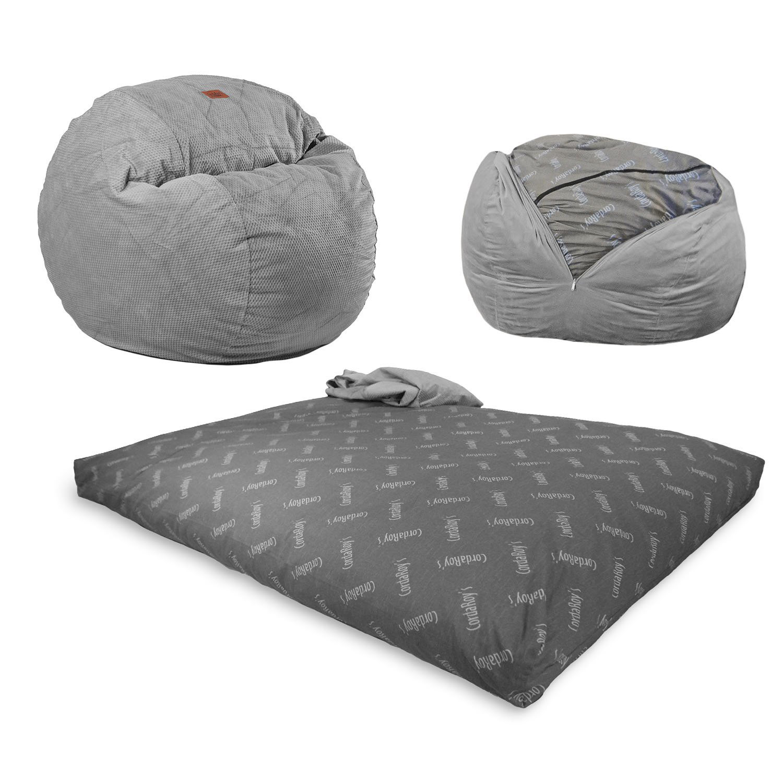 Cordaroy Convertible Bean Bag Chair Bed