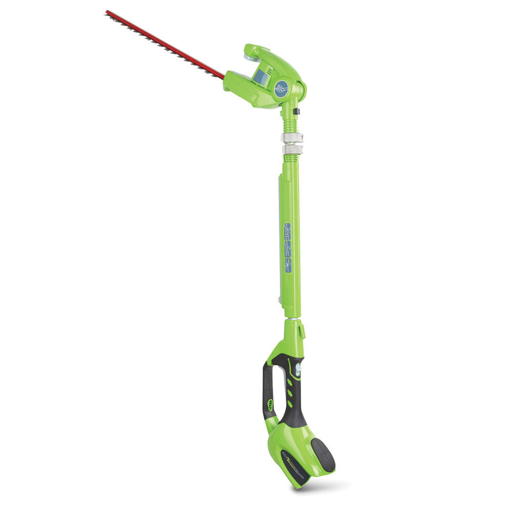 Cordless Telescoping Hedge Trimmer With 3 Position