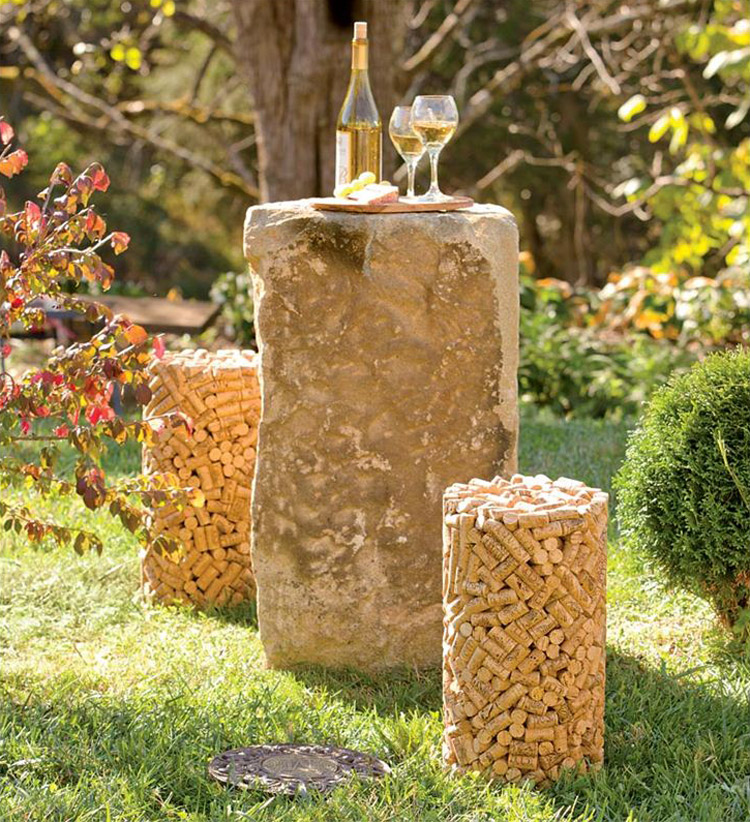 Cork Shaped Stool Made From Genuine Wine Corks The Green