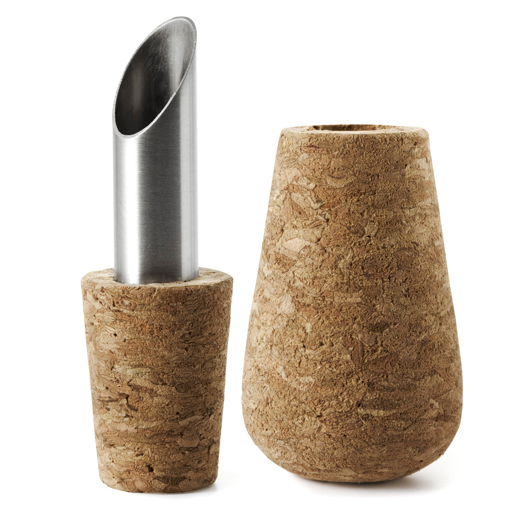Cork Wine Stopper and Pourer - The Green Head