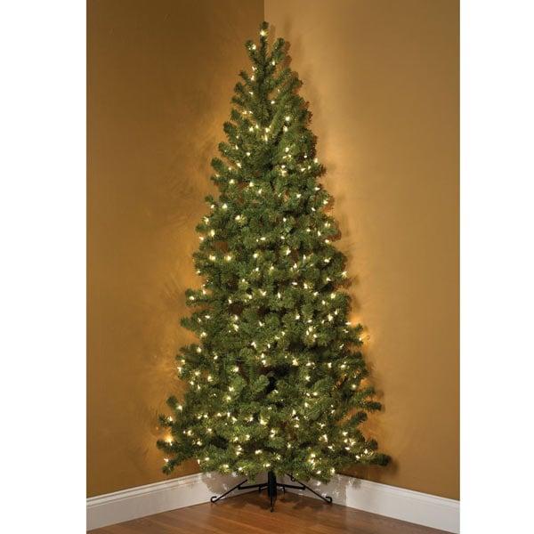 7 Foot Pre Lit Corner Christmas Tree The Green Head