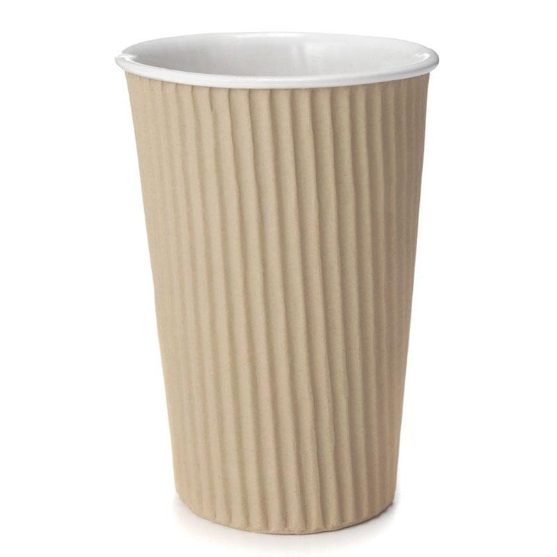 Corrugated Cardboard Ceramic Cup The Green Head