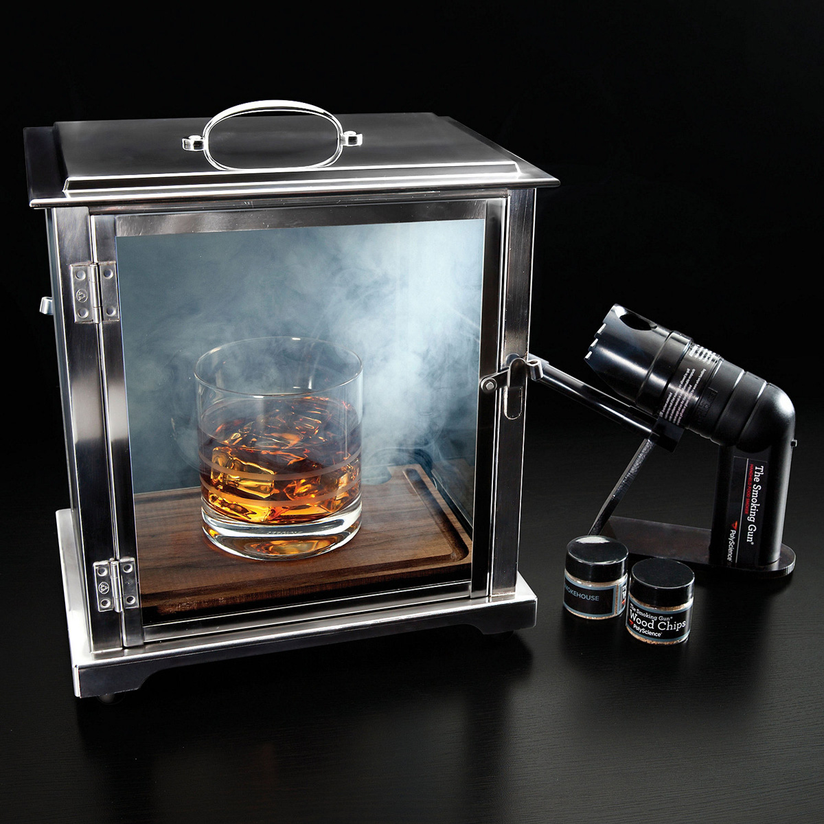 Crafthouse Cocktail Smoking Box With Smoke Gun The Green