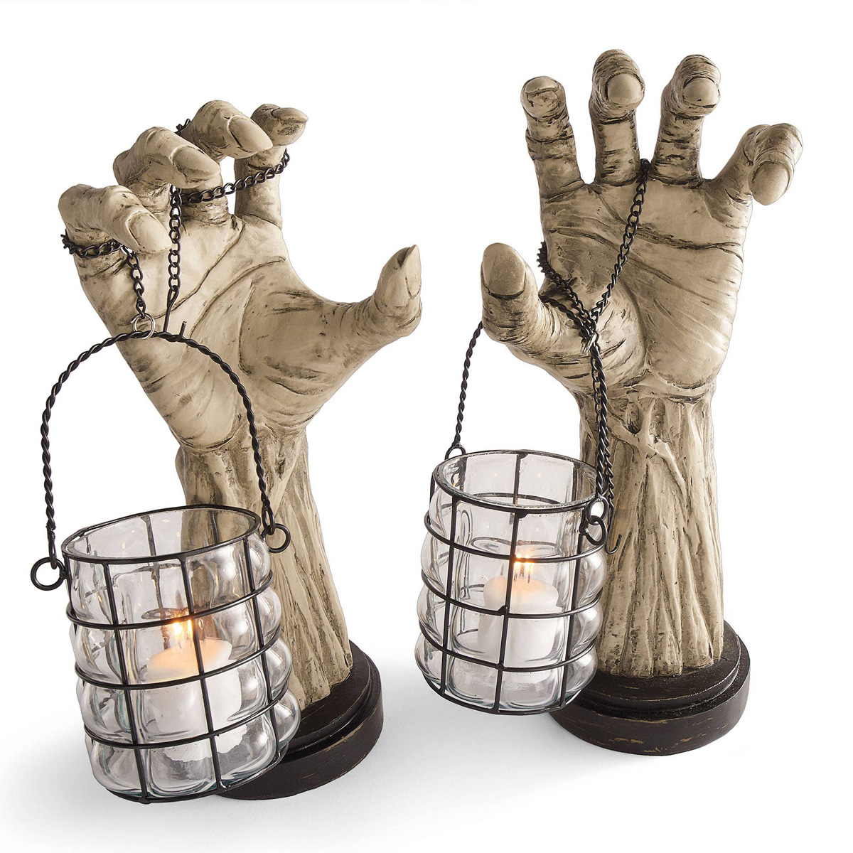 creepy hands with lanterns the green head