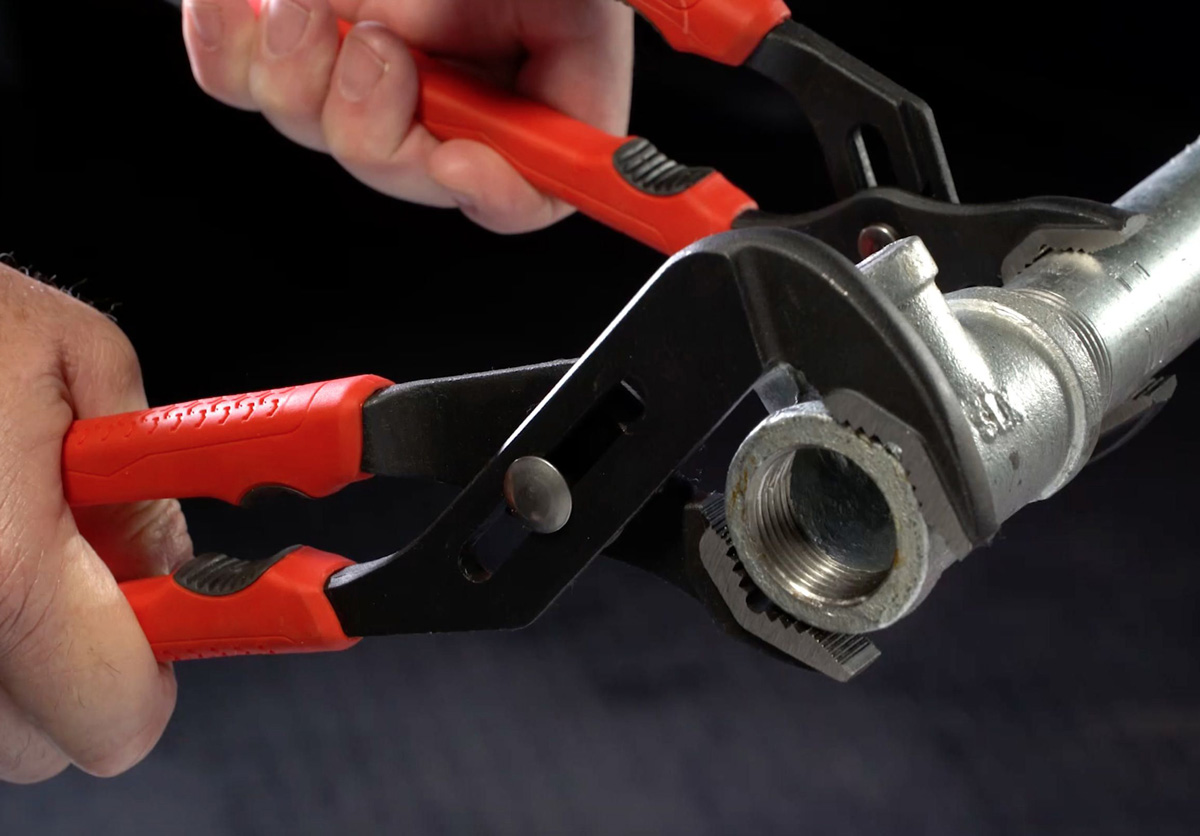 Crescent Tongue and Groove Pliers with Non-Marring Grip Zone - The ...