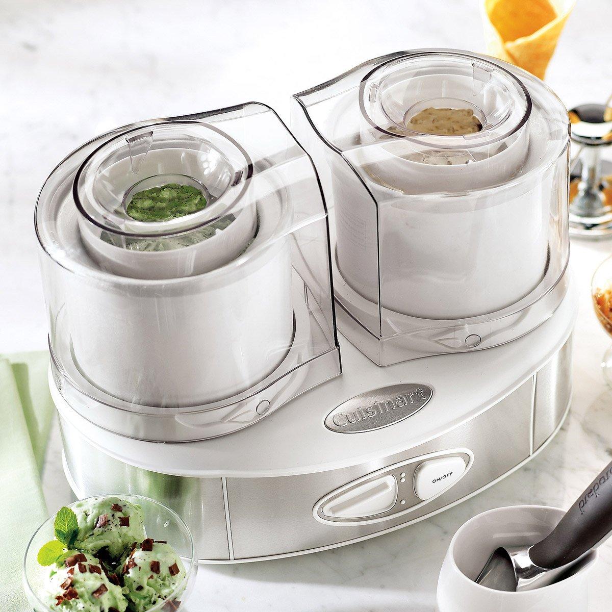 Cuisinart ice cream maker stainless steel - Cuisinart Flavor Duo Frozen Yogurt Ice Cream And Sorbet Maker