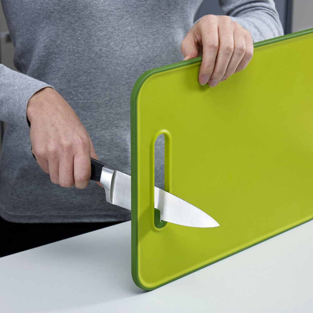 Cutting Board With Built In Knife Sharpener The Green Head