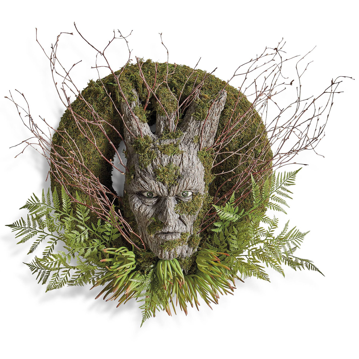 Creepy Dark Forest Wreath