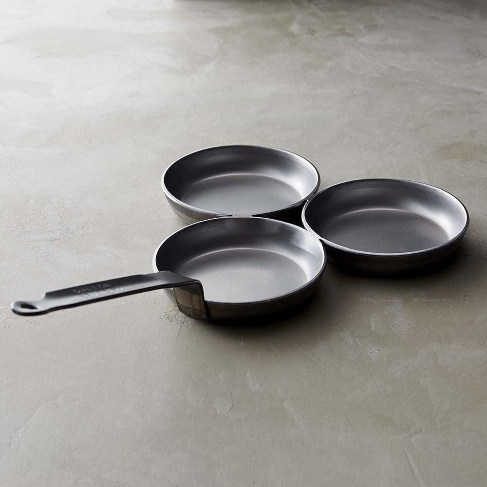 De Buyer Triple Blini Pan Makes 3 Miniature Pancakes At