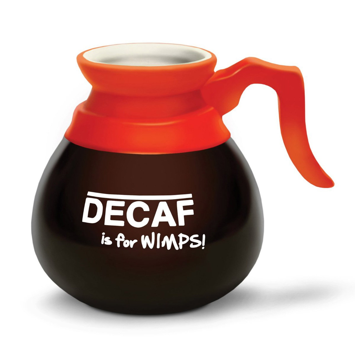 Decaf Is For Wimps Coffee Pot Mug The Green Head
