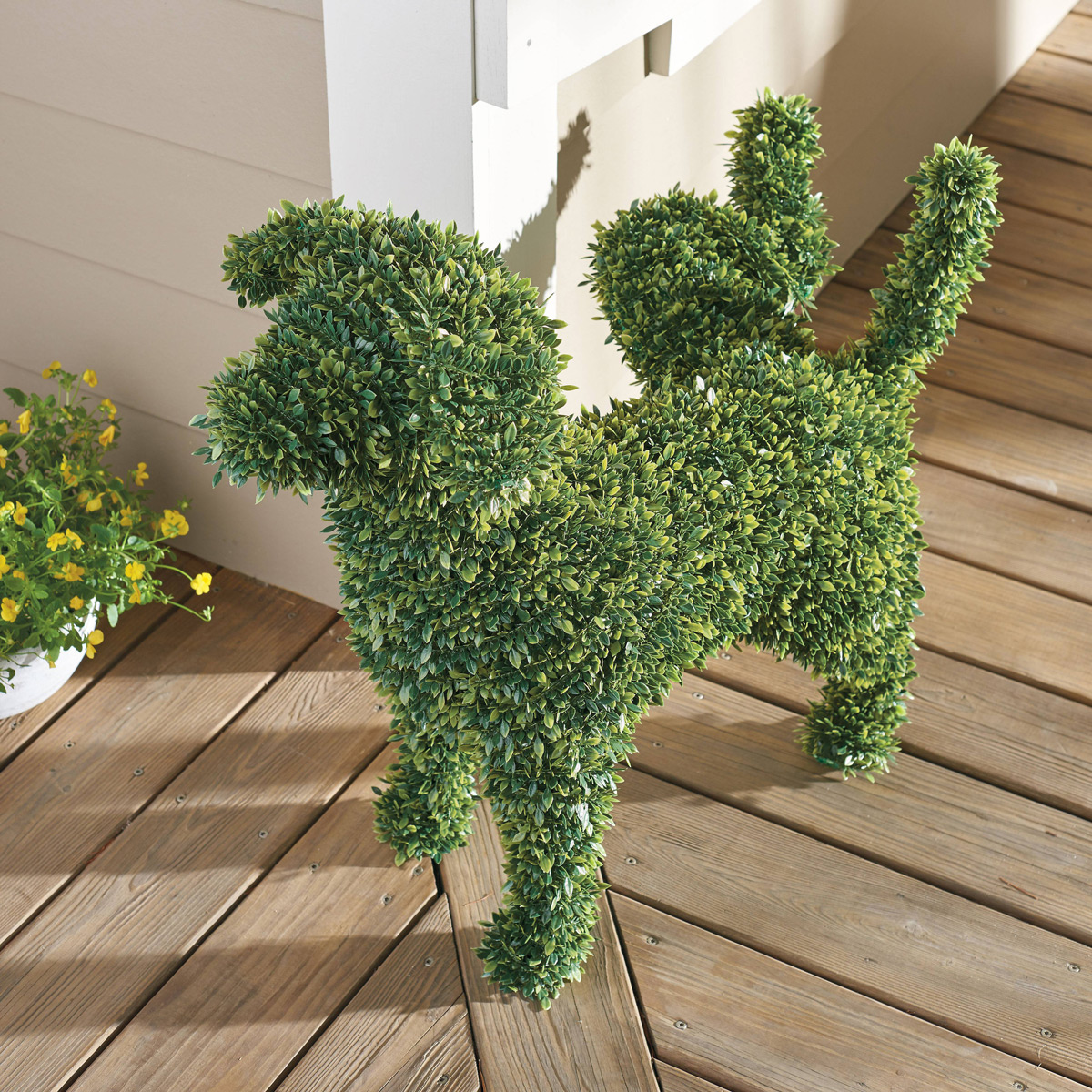 Decorative Peeing Dog Topiary The Green Head