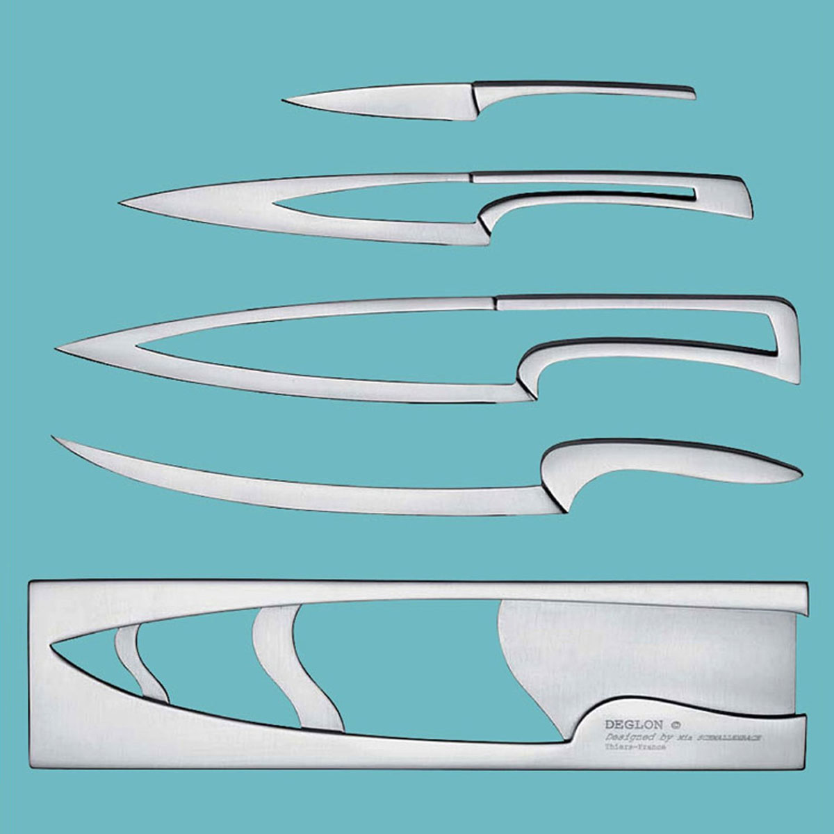 Contemporary Cool Kitchen Knife Sets Deglon Meeting Nested Set S Intended Design Ideas
