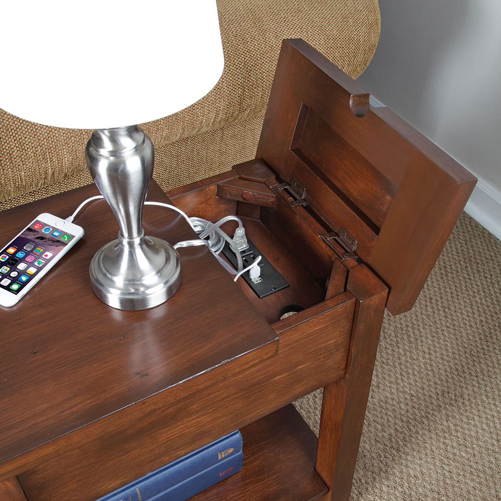 End Table With Charging Outlet