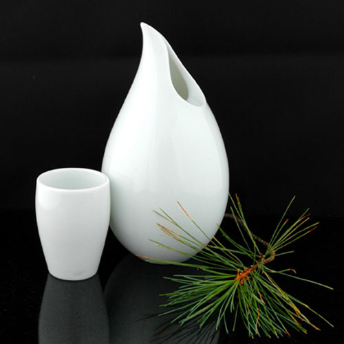 Dewdrop Sake Set Vase The Green Head