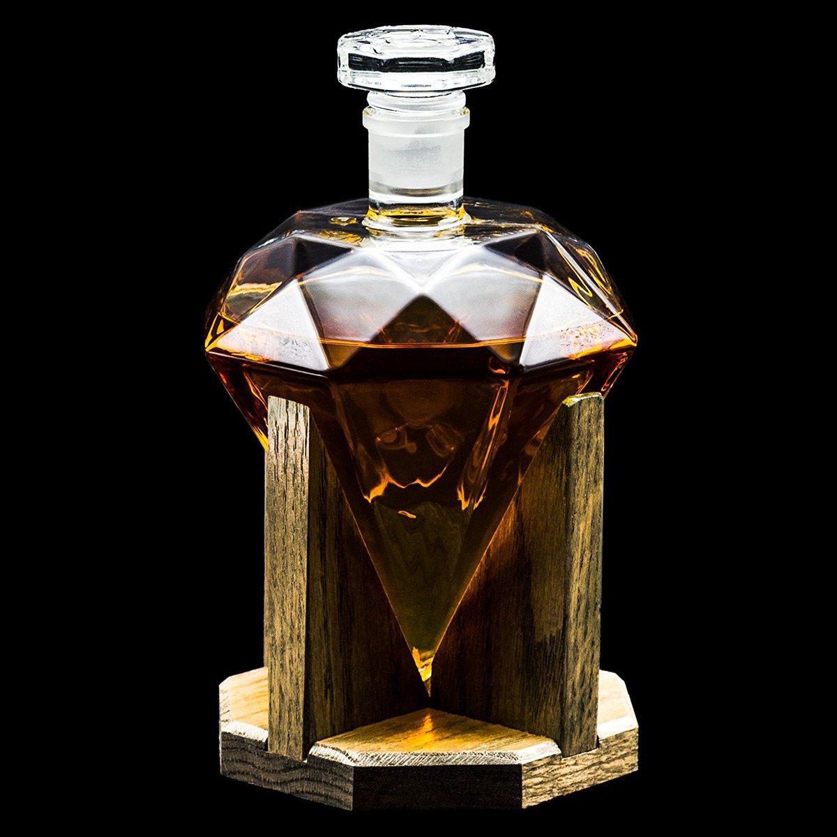 Diamond Whiskey Decanter The Green Head