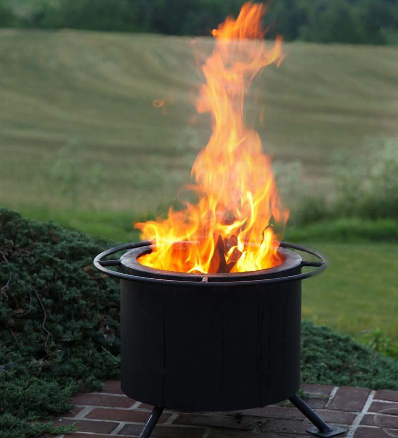 Double Flame Smokeless Fire Pit The Green Head