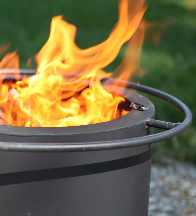 Double Flame Smokeless Fire Pit - The Green Head
