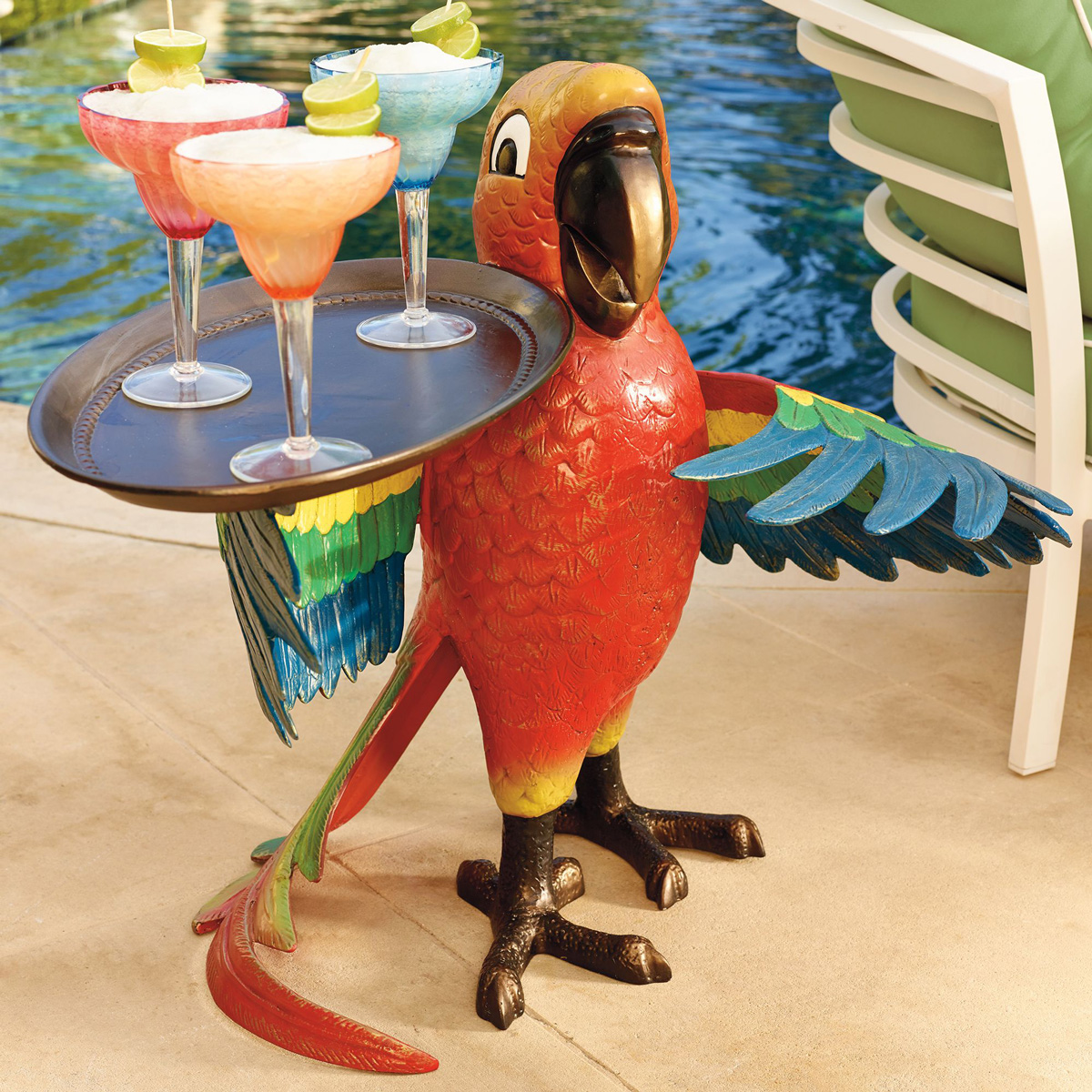 Drink Serving Parrot Butler The Green Head