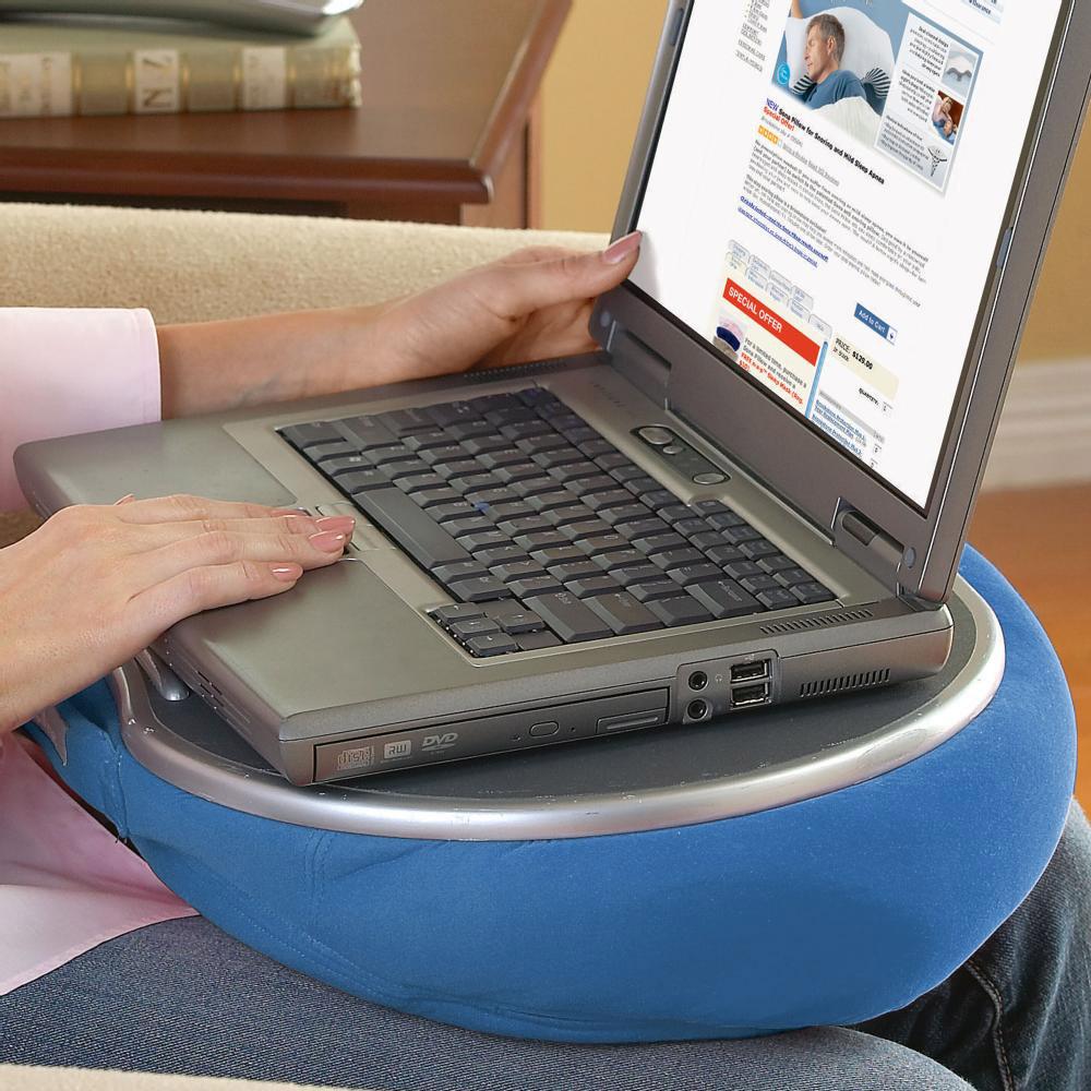 Computer Lap Desk Pillow Desk With Cable Management