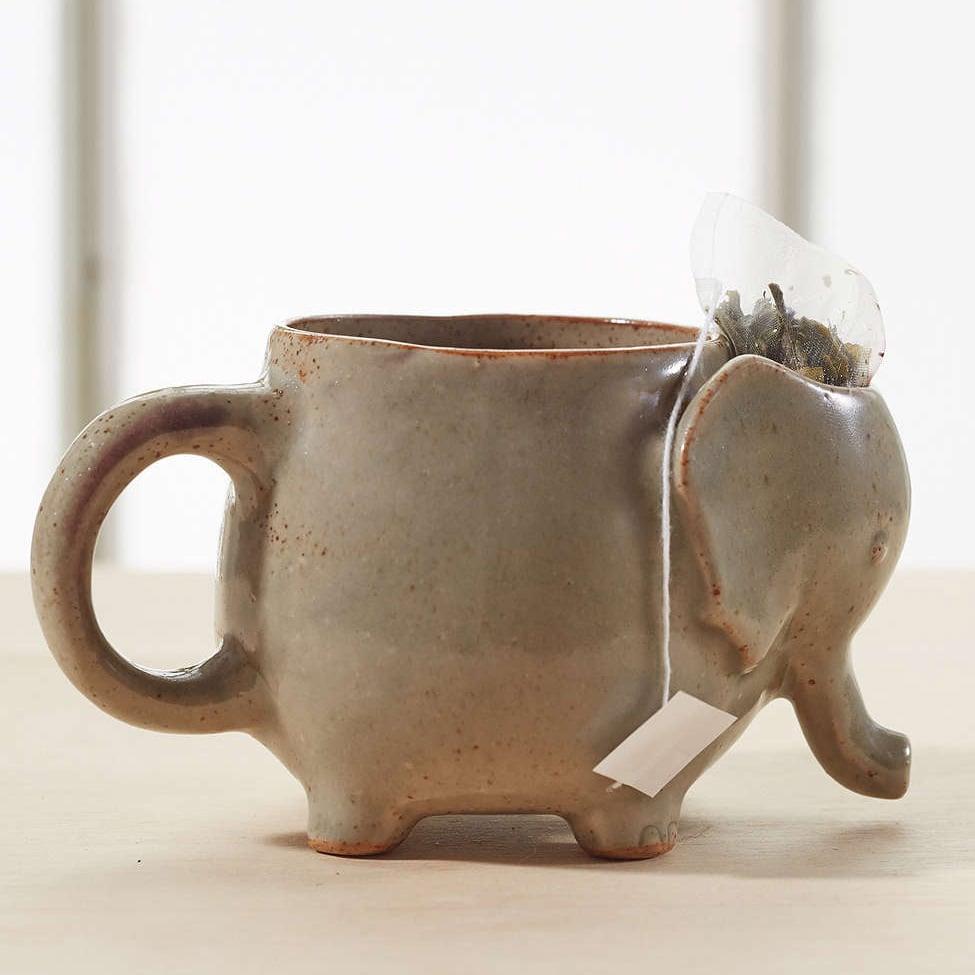 Elephant Tea Mug With Tea Bag Holder