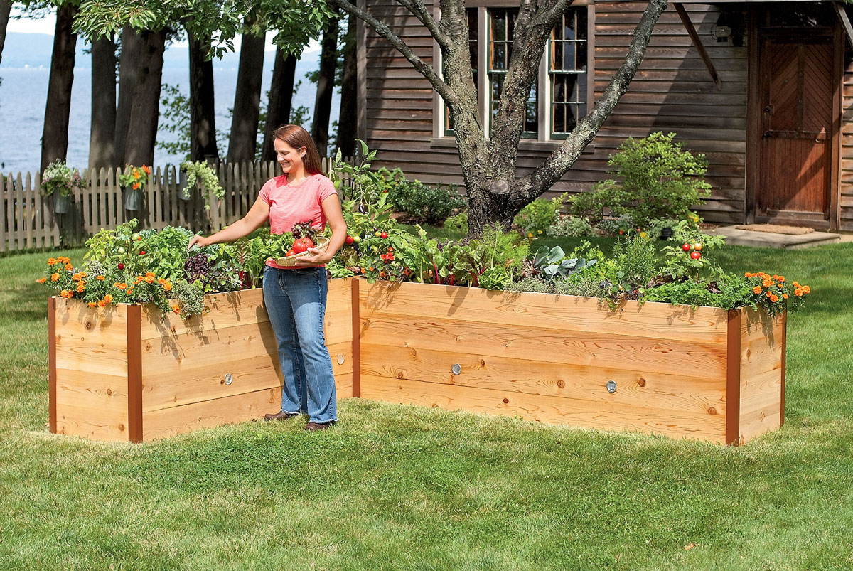 Exellent Cedar Garden Box 2 To Design Ideas
