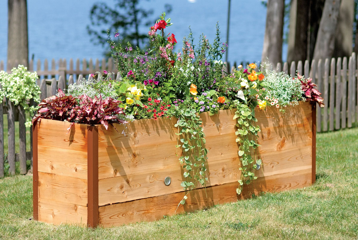 how to make an elevated garden bed