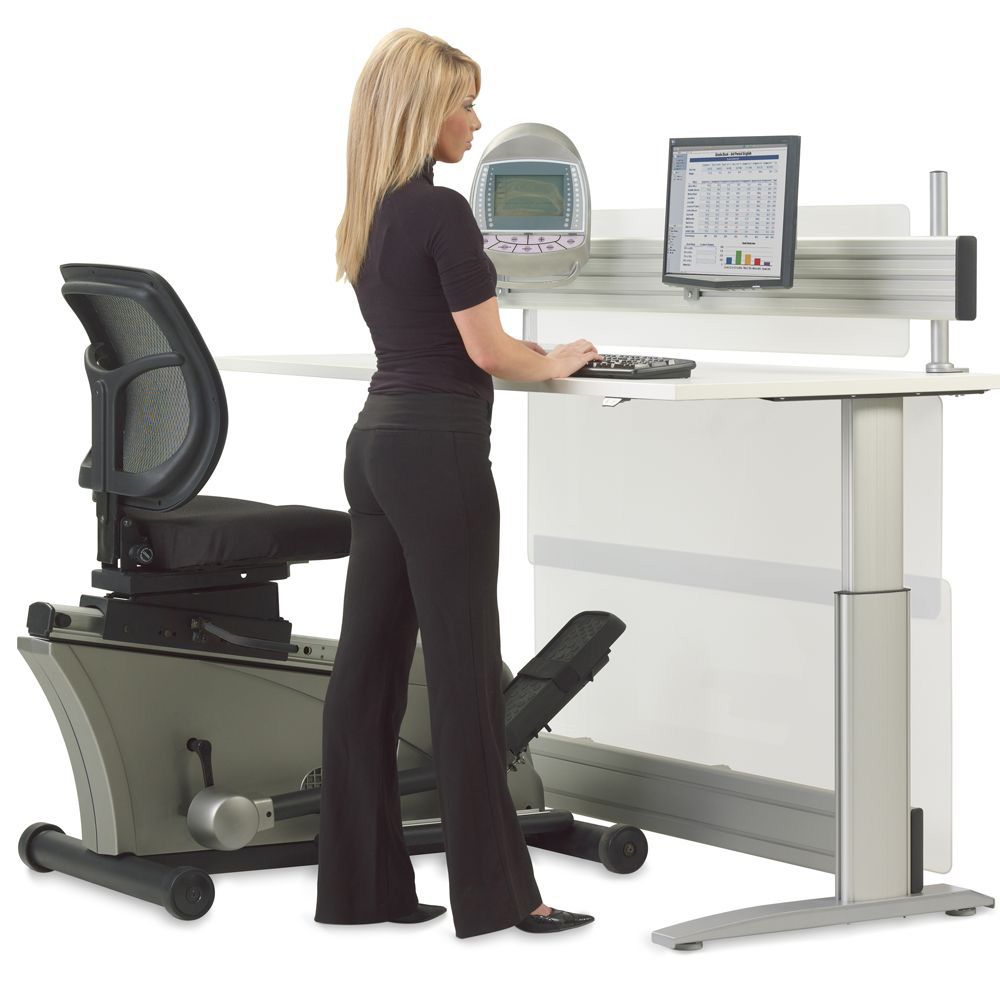Elliptical Machine Adjustable Height Desk The Green Head